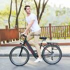 26'' 250W 36V Electric Mountain Bicycle EBike 6 Speed Gears Lithium Battery USA