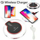 Fast Wireless Qi Charging Pad Charger for Samsung Galaxy S9 Note iPhone X 8 lot