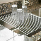 Kyпить Over the Sink Multipurpose Roll-Up Dish Drying Rack Pan Bottle Food Drainer Mat на еВаy.соm