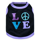 Pet Apparel Dog Clothing Cotton Pink LOVE Vest Small Dog Wholesale Spring Summer