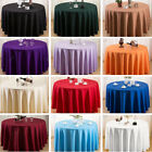 Round Table Cloth Polyester Banquet Satin Table Cover Weddin