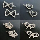 Matching Pet Dog Cat Hair Clips Puppy Bling Crystal Hairpin