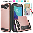 For Samsung Galaxy J3 Emerge/ Prime/ Luna Pro Card Wallet Case+Screen Protector