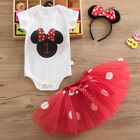 Baby Girl First 1st Birthday Minnie Mouse Outfit Party Dress