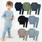 "Vaenait Baby Toddler Kids Boys Modal Pjs Sleepwear Set ""Rib Knit Set"" 12M-7T"