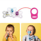 5pcs Colorful Silicone Mam Ring Button Style Dummy Pacifier Clip Adapter S