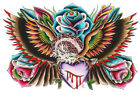 Eagle and Heart by English Canvas or Paper Rolled Art Print