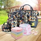 5 Pcs Baby Changing Diaper Nappy Bag Mummy Mother Handbag Multi-functional US