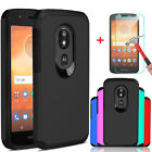 For Motorola Moto E5 Play/E5 Cruise Case Armor Cover With Glass Screen Protector