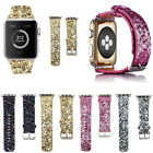 Fr Apple Watch Band 38/42mm iWatch Leather Glitter Wrist Strap Bling Series3 2 1 image