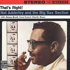 That's Right!: Nat Adderley and the Big Sax Section (CD, 1993, OJC) NEW FREE S