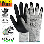 Canura Work Gloves Cut Resistant Level 5 Nitrile Anti Cut Safety Gloves NEW