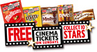 Codes to use to get 1 e-ticket valid on a Sunday at showcase or cineworld
