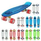 22 Inch Penny Style Board Mini Cruiser Retro Skateboard W/ LED Light Up Deck HOT image