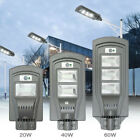 20W/40W/60W LED Solar Powered Wall Street Light PIR Motion Outdoor Garden Lamp