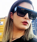 Retro BOLD ANGULAR Square Flat TOP Aviator Large Women WaYFe Sunglasses 8192 XL