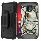 Case for Moto Z3 / Moto Z3 Play, TANK Belt Clip Combo Stand Rugged Dual Cover
