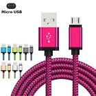 US 3~10FT USB Cable Lightning Nylon Braided Fast Charger Data Cable For Samsung