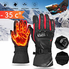Mens Leather Touch Screen Motorcycle Gloves Motorbike Full Finger Riding Gloves