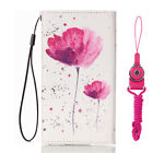 New fashion Cartoon Flower Leather slots wallet pouch case skin cover #5 Z9