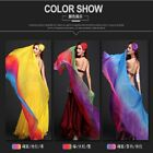 NEW Belly dance performance simulation silk semi circular gradient Veil 3Color