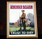 WW1+Propaganda+Poster+-+Remember+Belgium%2C+Enlist+To-day%2C+Vintage+War+Poster