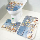 Creative 3pcs/Set Bathroom Non-Slip Pedestal Rug + Lid Toilet Cover + Bath Mat