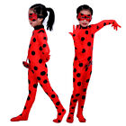kids cosplay ladybirds suit bug girls halloween