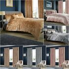 Crushed Velvet Luxurious Duvet Cover Sets / Matching Curtains /Cushion Covers LW image