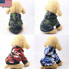 Small Pet Dog Cat Puppy Camouflage Winter Warm Coat Hoodie Clothes US