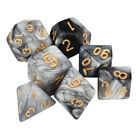7pcs/Set Resin TRPG Game Dungeons & Dragons Polyhedral D4-D20 Multi Sided Dice