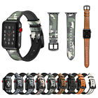 Rugged Camouflage Silicone Band for Apple Watch Series 1 2 3 Leather Strap Belt