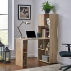 Computer Desk Storage Cabinet Home Office Furniture High Black Gloss or Oak New