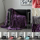 Metallic Stars Pattern Throws Luxurious Super Soft Warm Cosy Sofa & Bed Blankets