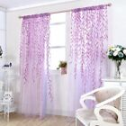 Kyпить Leaves Print Design Sheer Room Curtain Pattern Voile Panel Drape Window Curtains на еВаy.соm