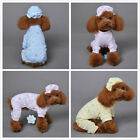 Cotton Small Pet Dog Pajamas Clothing Cat Puppy Chihuahua Jumpsuit with Hat Cute