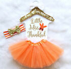 Thanksgiving Newborn Baby Boy Girl Tops Romper Pants Hat Outfits Set Clothes US
