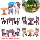 Accessories Miniature Table And Chairs  Mini Ornaments Fairy Garden Landscape Uk