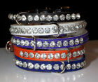 Rhinestone Dog Collar Crystal Jewel Bling Designer Made in USA! Halloween Colors
