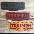 Leather sew on Triumph (motorcycle jacket badge) - latest style $4.94 USD on eBay