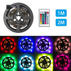 1M/2M SMD 5050 RGB LED Strip Light TV Backlight Colour Changing Battery Remote