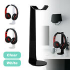 Universal Acrylic Earphone Headset Hanger Headphone Stand Holder Desk Display
