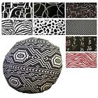 Flat Round Shape Cover*Geometry Cotton Canvas Floor Seat Chair Cushion Case*AL7