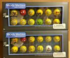 "Mega Marbles Moody Marbles Emoji Series 1"" Shooter Glass Marble Set Series 1  2"