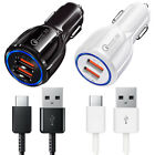 Original Samsung Galaxy S9 Note 9 S8 Plus Adaptive Fast OEM Car Charger +Type C