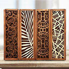 Wooden Stationery Case Hollow Out Boxes Tabletop Pencil Storage Organizer