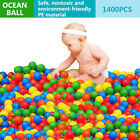 600~1600X Soft Plastic Ocean Ball 55mm Baby Kids Swim Pool Play Pit Ball Toy AU