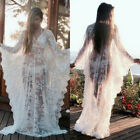 See-through Lace Maternity Gown Long Dress Baby Shower Fancy Photo Shoot Prop
