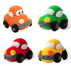 Car Automobile Knitted Doll Toy Handmade Amigurumi Stuffed Animal Knit Crochet