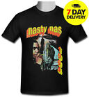 Nasty Nas Vintage retro hip hop Gildan black T-shirt size S to 3XL image